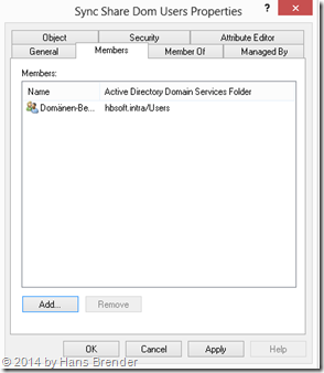 Active Directory Users and Computers: Anlegen einer Sicherheitsgruppe