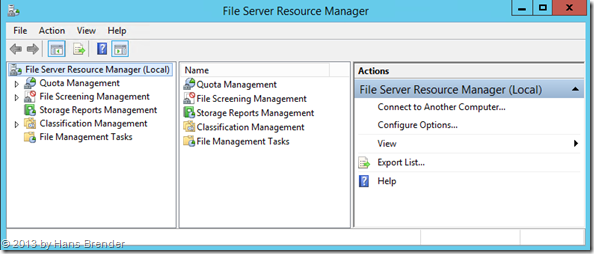 File Server Resource Manager