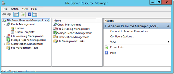 File Server Resource Manager: Quota Management