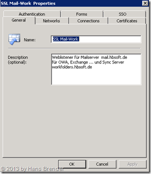 TMG Weblistener für SSL