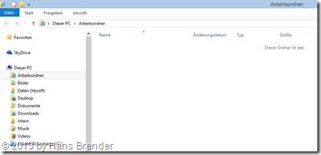 WorkFolders - Arbeitsordner : Windows Explorer