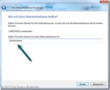 Windows 7: Explorer - Netzwerkadresse für Benutzer