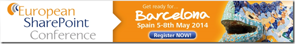 European SharePoint Conference 2014, Barcelona