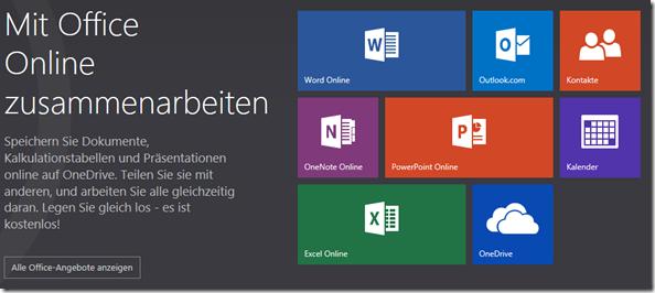 Microsoft Office Online, Anmelden