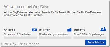 3 Schritte zu OneDrive