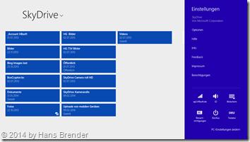SkyDrive App - Einstellungen