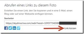 OneDrive , SkyDrive,Link kürzen