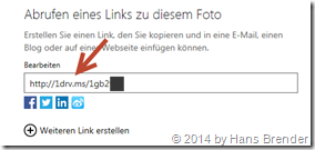 OneDrive, SkyDrive, Link kürzen
