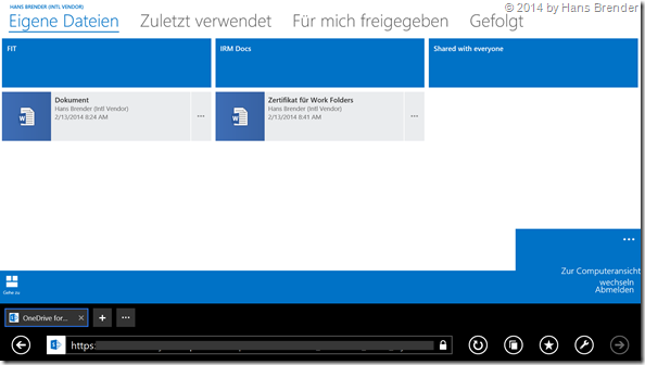Touch enabled, OneDrive for Business