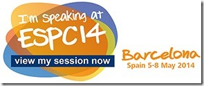 Im speaking at ESPC 2014 in bacelona
