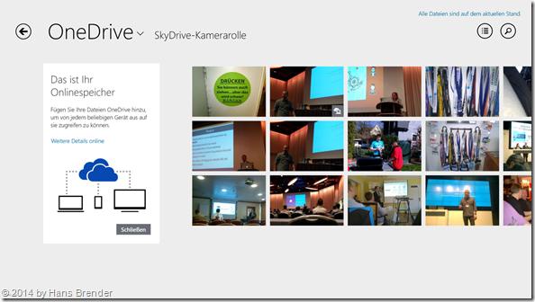 mit Windows 8.1 Update: Namensänderung an Modern App OneDrive