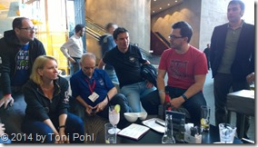 sharepoint discussions with Martina Grom,Adis Jugo, Jeremy Thake,  Jethro Seghers and Hans Brender