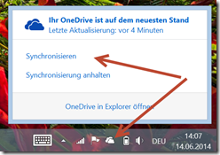 OneDrive: Force the synchronisation process