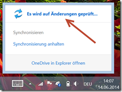 OneDrive: Sync Process is forced or in progress