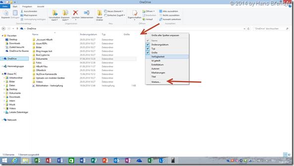 OneDrive: Windows 8.1 Explorer: Anzeige von geteilte Dateien