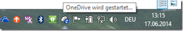 wrong OneDrive Icon in the info tray