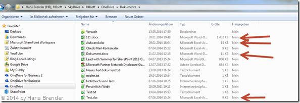 OneDrive mit der Desktop App unter Windows 7: falsche Informationen