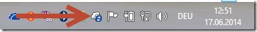 fehlerhaftes OneDrive Icon in der Infoleiste
