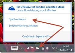 OneDrive: Synchronisierung erzwingen