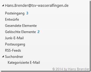 Outlook 2013: erst ein Benutzer angelegt