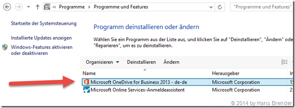 programs: OneDrive for business