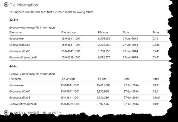 OneDrive for Buisness,Änderungen an der Groove.exe und dazugehörenden DLL's