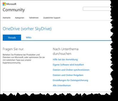 Microsoft, Community, OneDrive, SkyDrive