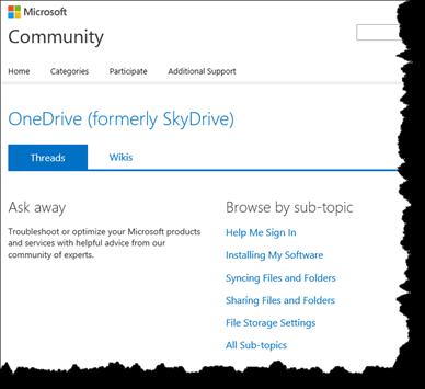 Microsoft, OneDrive, community