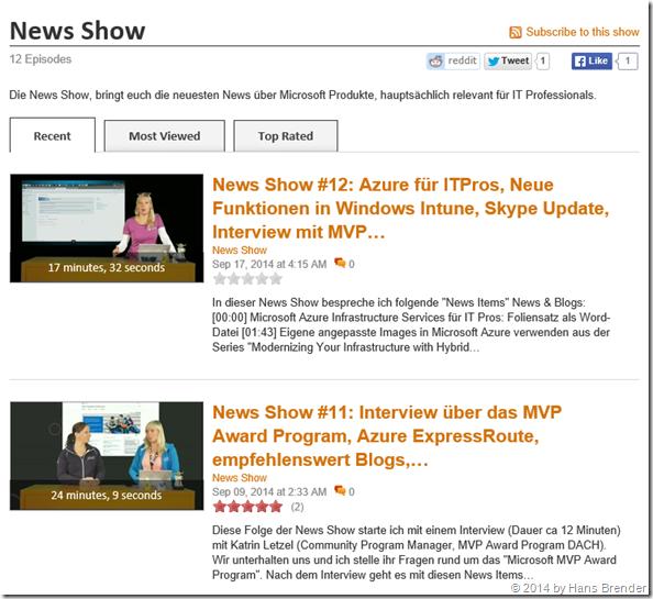"""Die """"News Show"""" auf Channel 9"""