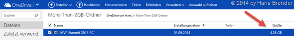 more than 2 GB File stored in OneDrive
