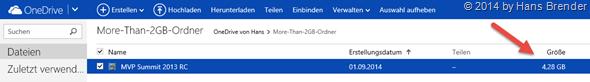 mehr als 2 GB in OneDrive speichern