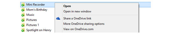 OneDrive,Share in Windows Explorer