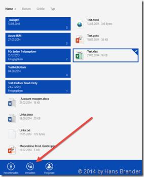 OneDrive for Business: Löschen einer Datei