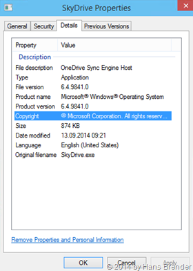 SkyDrive, OneDrive settings in  Windows 10 Preview
