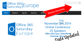 Online event Office 365 Saturday Europe, 2014