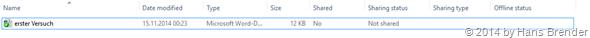 Windows Tecnical Preview- Build 9879: OneDrive: Windows Explorer