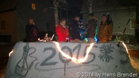 Feiern an der Eisbar