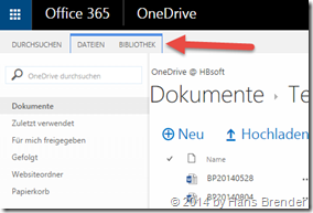 OneDrive for Business: Versionshistorie: Bibliothek