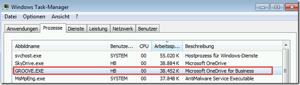 Task-Manager unter Windows 7