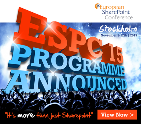 European SharePoint Conference 2015, Stockholm