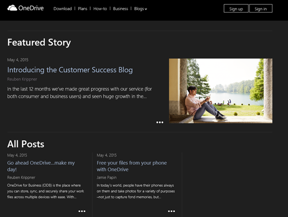 OneDrive for Business, Customer Success Blog