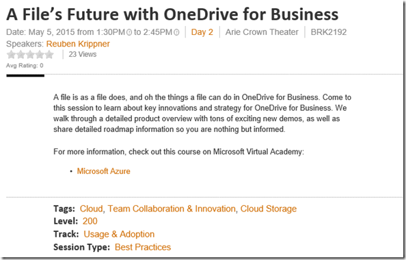 A File'sFuture with OneDrive for Business