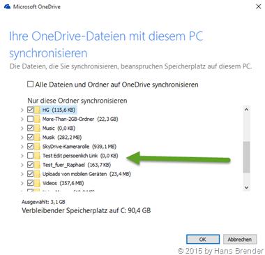 OneDrive: Zu meinem OneDrive hinzufügen: Schritt 3