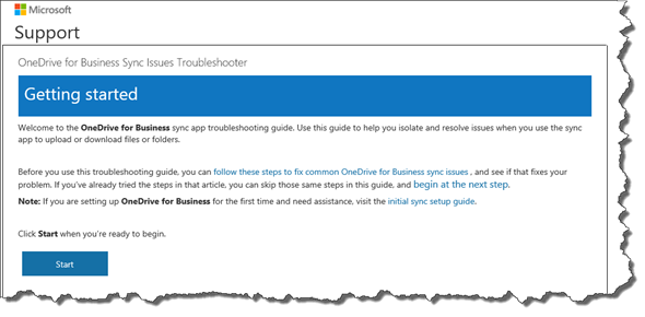 OneDrive for Business Troubleshoter