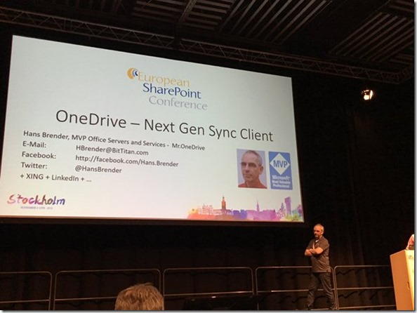 European SharePoint Conference, Next Generation Sync Client, NGSC, OneDrive, OneDrive for Business