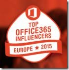 Top Office 365 Influencers Europe 2015