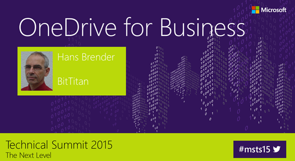 OneDrive for Business, Next Generation Sync Client, Microsoft Technical Summit 2015, Darmstadt