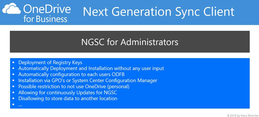 Next Generation Sync Client   ready for Enterprise?   Hans Brender's