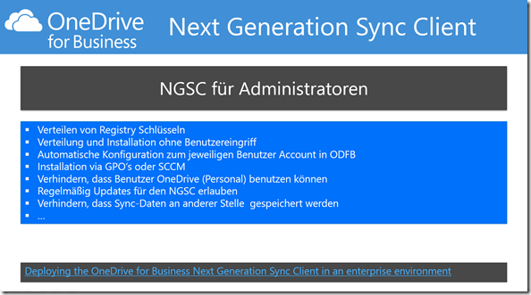 NGSC, Next Generation Sync Client