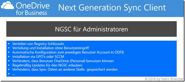 Next generation Snyc Client for Administratoren